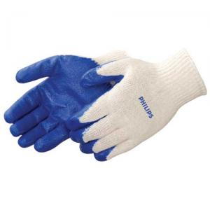 Latex Blue Palm Coated Gloves
