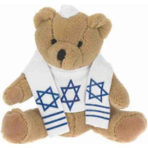Custom Teddy Bear on Custom Imprinted 7  Bar Mitzvah Teddy Bear