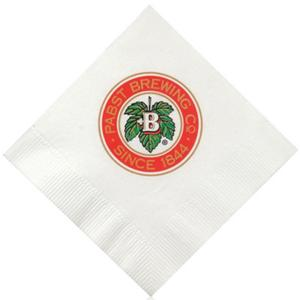 3-Ply Promotional White Beverage Napkins