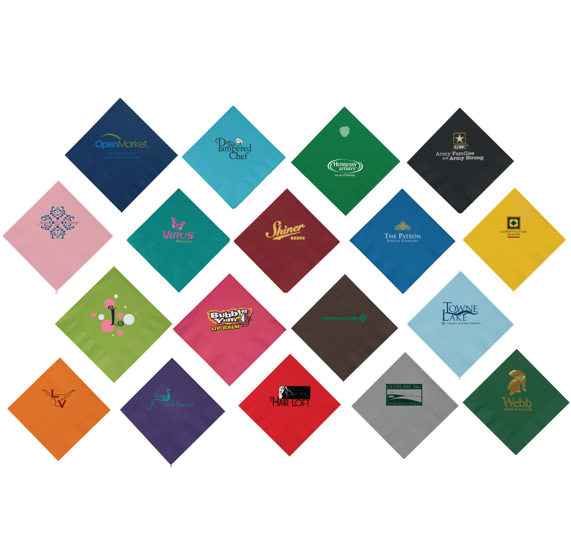 2-Ply Promotional Colored Beverage Napkins