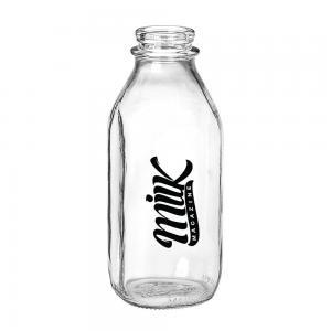 Glass Milk Bottle 1/2 Liter