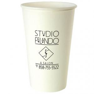 16 oz. White Beverage Paper Cup