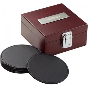 Presidential Collection Leather Coaster Set of 6