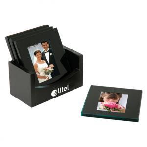Black Picture Frame Coaster set of 4
