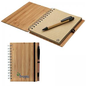 Eco-Friendly Bamboo Notebook with Recycled Paper