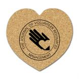 Large Heart Shaped Cork Coaster
