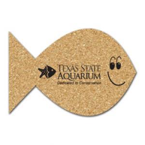 Large Fish Shaped Cork Coaster