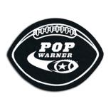 Football Shaped Recycled Rubber Coaster