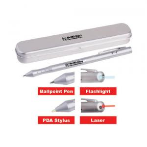 4 in 1 Promotional Laser Pointer, Pen, PDA Stylus and Flashlight