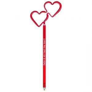 Double Heart Shaped Bent Pen