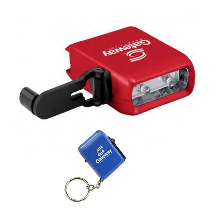 Crank It Up Flashlight Key Chain