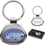 Madison Oval Two-Tone Metal Key Holder