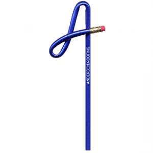 A cursive Shaped Bent Pencil