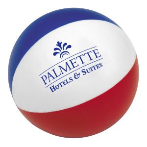 Classic Americana Beach Ball Stress Reliever