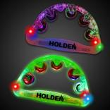"9"" Multi-Colored Light Up Party Tambourine"