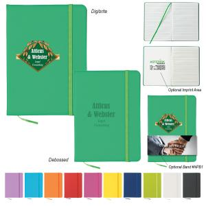 """5"""" x 7"""" Colorful Journal W/ Bookmark"""