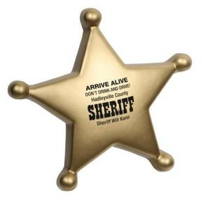 Sheriff Badge Themed Stress Reliever