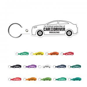 Flexilble Vinyl Plastic Car Shape Keychain
