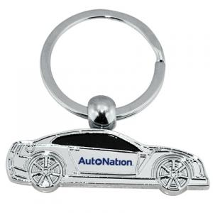 Street Racer Car Shaped Metal Keychain