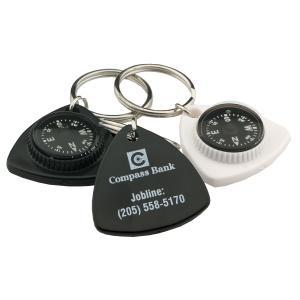 Triangle Compass Key Chain