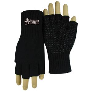 Fingerless Knitted Gripper Gloves (Fusion Embroidery)