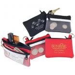 Double Compartment Zippered Cosmetic Bag