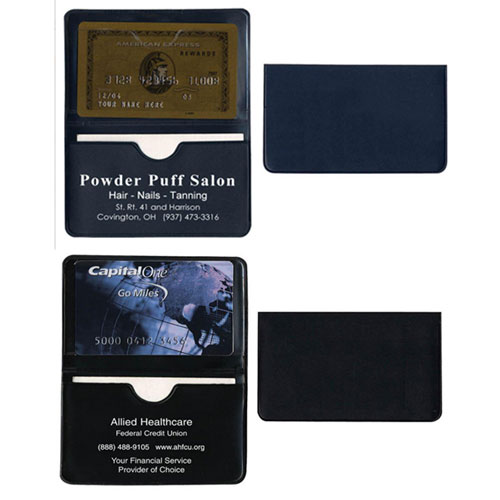 Two Pocket Business Card Holder