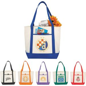 Ahoy! Nautical Poly Tote with Long Straps