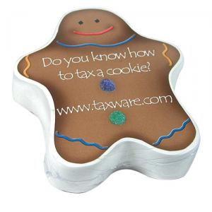 Gingerbread Man Shaped Compressed T-Shirt