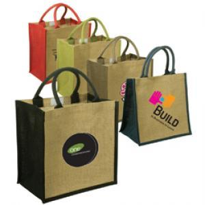 Go Green! Jute Shopping Tote