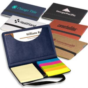 Eco-Friendly Business Card Holder with Memo Pad and Sticky Flags