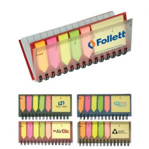 Pocket Notebook with Sticky Flags and Ruler