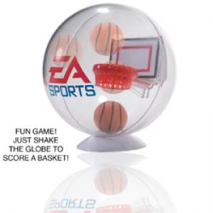 Hoop Time! Desktop Basketball Game Globe with Stand