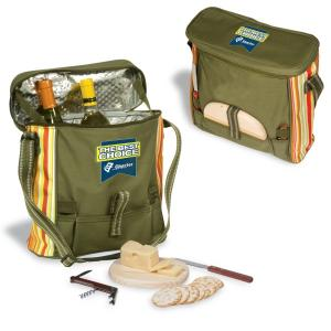 Deluxe Messenger Bag Picnic Cooler with Utensils