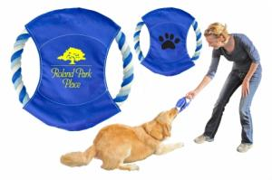 Blue Rope Frisbee Tug Dog Toy