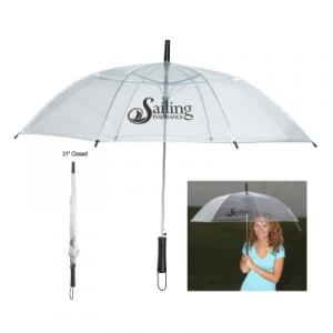 "46"" Rainy Day Clear Plastic Umbrella"