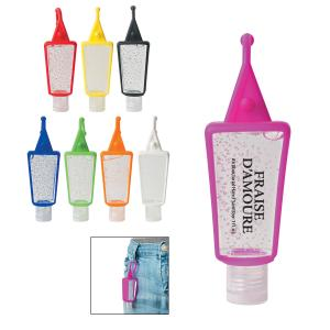 1 oz Germs Be Gone Hand Sanitizer with Silicone Holder
