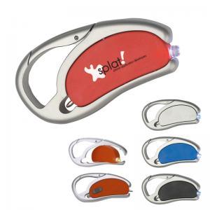 Spinning LED Mini Flashlight/Pen Combo Carabiner