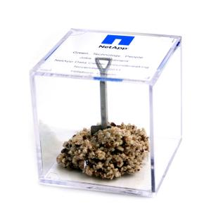 Clear Cube with Shovel Paperweight/Award