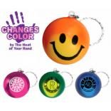 Color Changing Mood Smile Face Keychain