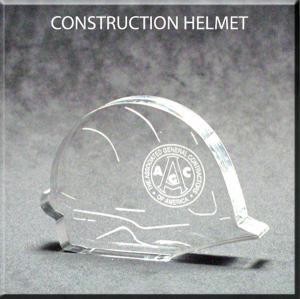 Hard Hat Acrylic Award