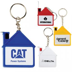 House Shaped 3ft 3in Tape Measure Key Chain