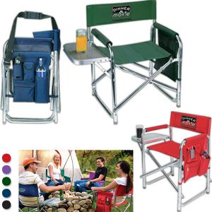Deluxe Folding Chair With Attached Table