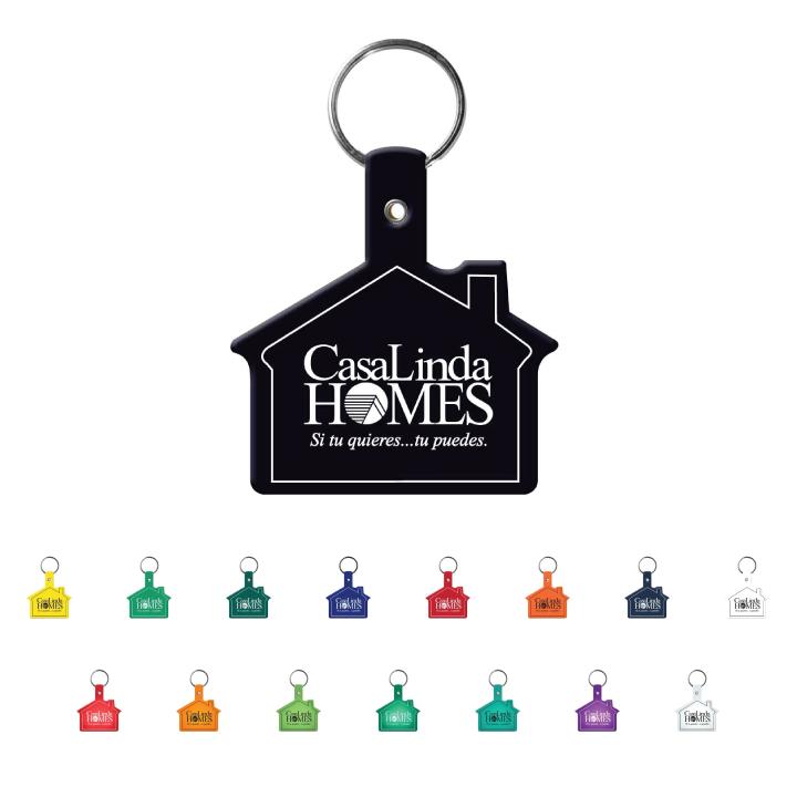 Home Sweet Home Plastic Key Tag