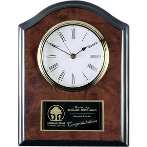 Burlwood Plaque Clock Award