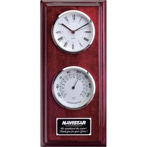 Clock and Thermometer Wall Plaque