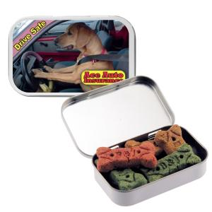 Dog Bone Treats in Large Tin