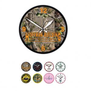 """Full Color 12 3/4"""" Round Wall Clock"""
