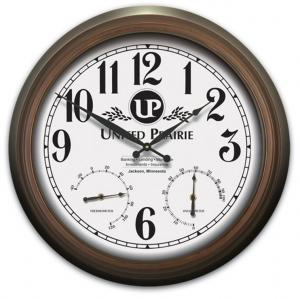 Three-In-One Indoor/Outdoor Metal Clock