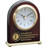 Rosewood Arched Award Clock